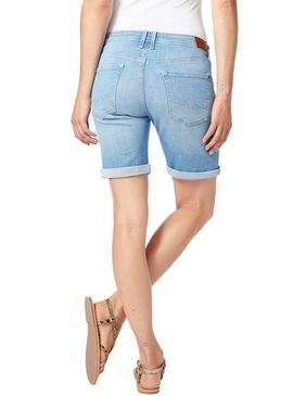 Bermuda Pepe Jeans Poppy Light Denim Mujer