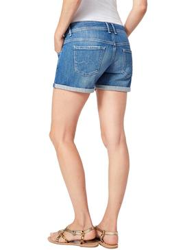 Short Pepe Jeans Siouxie Denim Mujer