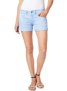 Short Pepe Jeans Siouxie Azul Mujer