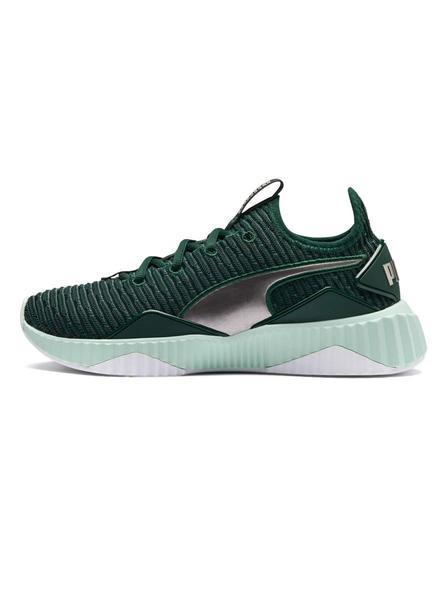 zapatillas verde mujer puma