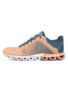 Zapatillas On Running CloudFlow Almond Grey Mujer