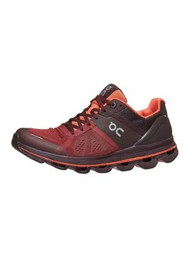 Zapatillas On Running Cloudace Ruby Lava Mujer