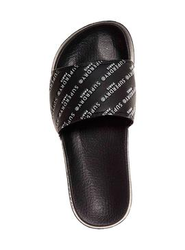 Chanclas Superdry Emboss Negro Mujer