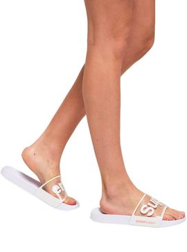 Chanclas Superdry Perforada Jelly  Blanco Mujer