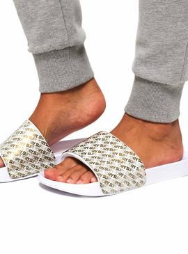 Chanclas Superdry Jelly Repeat Blanco Mujer