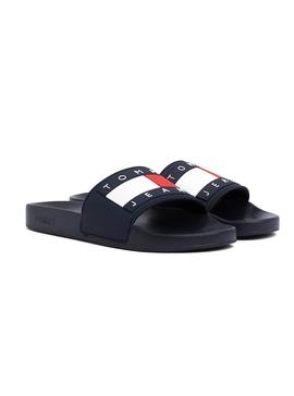 Chanclas Tommy Jeans Logo Flag Marino Mujer