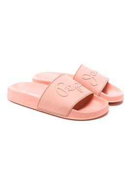 Chanclas Pepe Jeans Flap Bass Coral Mujer