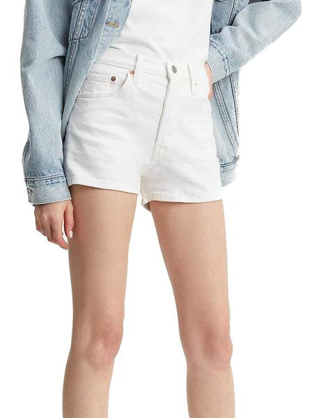 Short Levis 510 High Rise Blanco Mujer