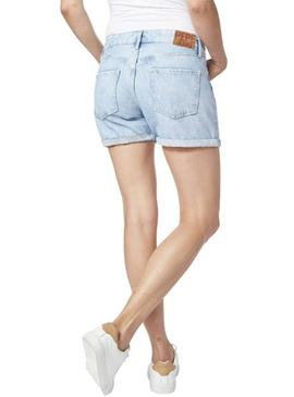 Short Pepe Jeans Marble Light Denim Mujer