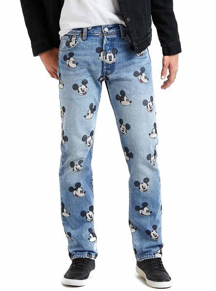 Pantalon Vaquero Levis 501 Mickey De Hombre