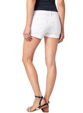 Short Pepe Jeans Ripple Blanco Mujer