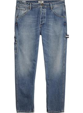 Pantalon Tommy Jeans Tapered Carpenter Gris