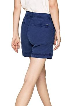 Bermuda Pepe Jeans Nomad Azul Mujer