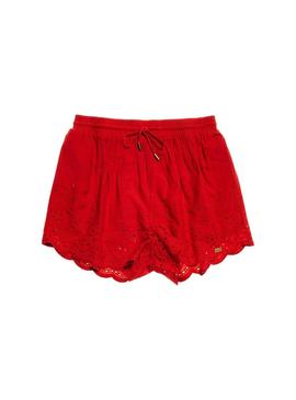 Shorts Superdry Anabelle Rojo Mujer