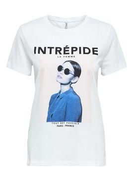 Camiseta Only Indre Blanco Mujer