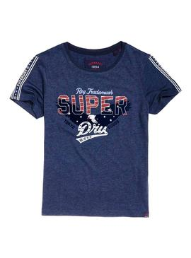 Camiseta Superdry Eagle Star Azul Mujer