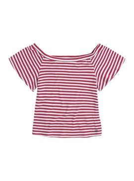 Camiseta Pepe Jeans Lucy Rojo Mujer