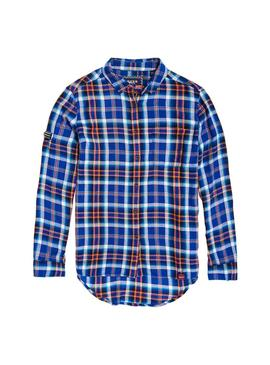 Camisa Superdry Anneka Check Azul Mujer