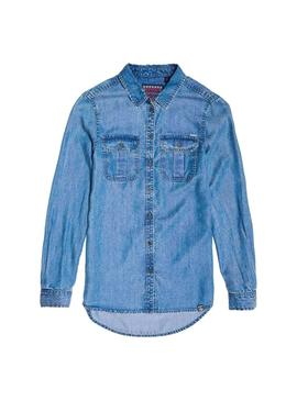 Camisa Superdry Xenia Azul Mujer