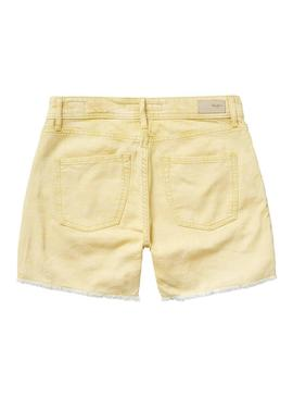 Short Pepe Jeans Thrasher Amarillo Mujer