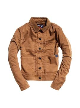Chaqueta Superdry Makai Crop Camel Mujer