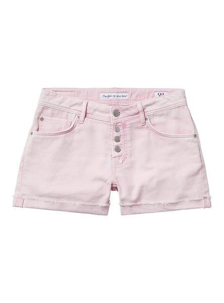 Short Pepe Jeans Thrasher Rosa Mujer