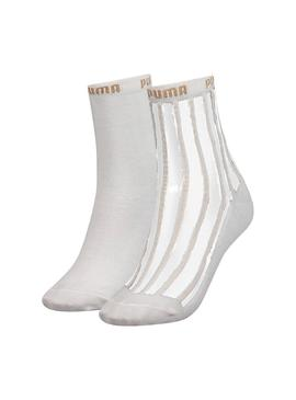 Calcetines Puma 2 Pack Blanco Mujer
