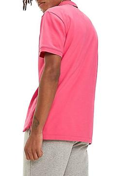 Polo Tommy Jeans Classics Solid Rosa para Hombre
