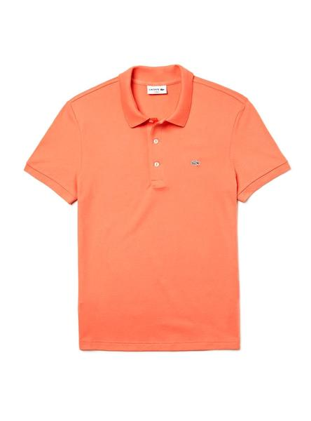 Polo Lacoste Slim Fit Naranja Hombre