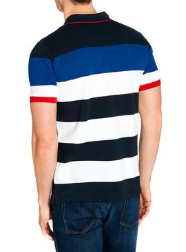 Polo North Sails Navy Stripes Azul Hombre