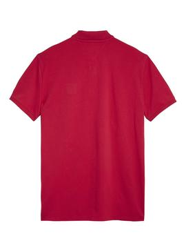 Polo Tommy Jeans Clasico Rojo Hombre