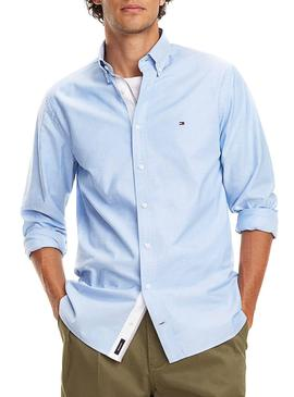 Camisa Tommy Hilfiger Organic Oxford Azul Hombre