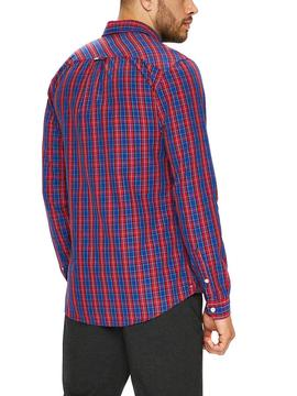 Camisa Tommy Jeans Essential Mini Check Rojo