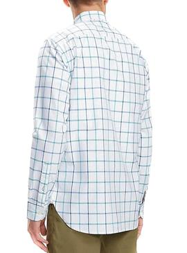 Camisa Tommy Hilfiguer Windowpane Blanco Hombre