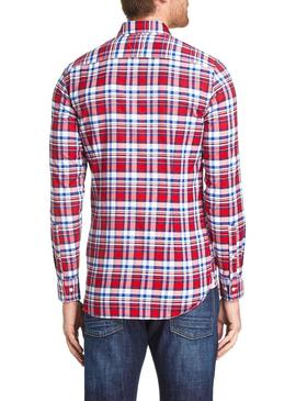 Camisa Tommy Hilfiger Authentic Rojo Hombre