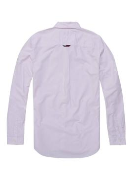 Camisa Tommy Jeans Rayas Rosa Hombre