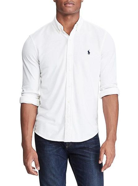 Camisa Pique Lauren Hombre Polo Blanco Ralph 3LScR45jqA