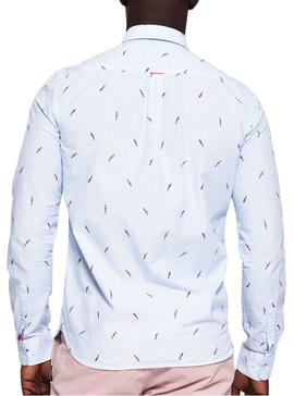 Camisa Superdry Parrot Azul Hombre