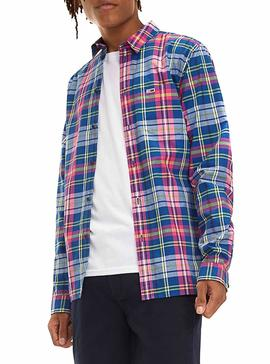 Camisa Tommy Jeans Essential Big Check Hombre