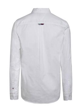 Camisa Tommy Jeans Clasica Blanca Hombre