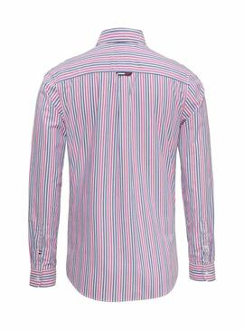 Camisa Tommy Jeans Rayas Multicolor Hombre