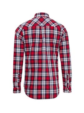 Camisa Tommy Jeans Multi Check Rojo Hombre
