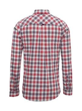 Camisa Tommy Jeans Cuadros Rojo Hombre