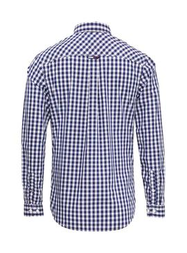 Camisa Tommy Jeans Cuadros Azul Hombre