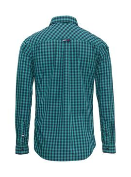 Camisa Tommy Jeans Cuadros Verde Hombre