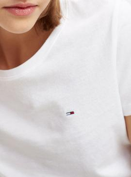 Camiseta Tommy Jeans Soft Blanco Mujer