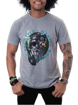 Camiseta La Sal Style Wanted Monkey Gris