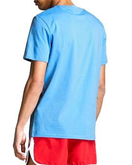 Camiseta Jack and Jones Pains Azul Hombre