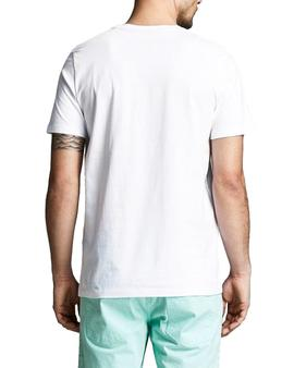Camiseta Jack and Jones Pains Blanco Hombre