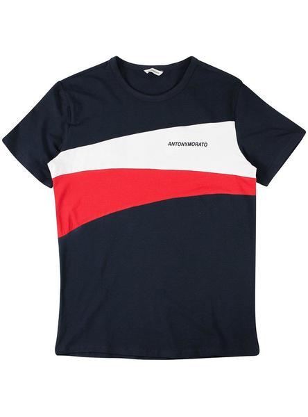 Azul Contrasti Morato Antony Camiseta Hombre dCrthQs